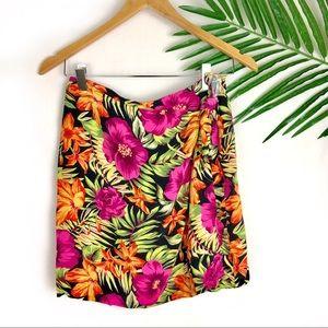 Express Beach Coverup Tropical Skirt Small